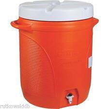 10-GALLON Orange Rubbermaid Lid-Lok Water Jug Cooler