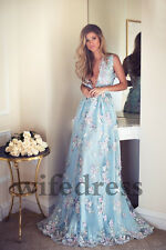 Light Blue Formal Dresses Evening Party Cocktail Bridesmaid Wedding Prom Gown
