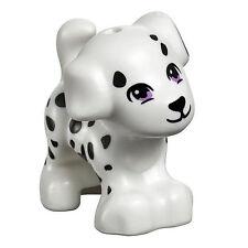 LEGO FRIENDS DALMATIAN WHITE DOG WITH SPOTS Pet Animal Figure Minifig Minifigure