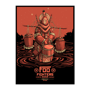Foo Fighters Poster 10/21/2017 Lexington KY Numbered #/300