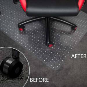 900X1200 FROSTED NON-SLIP OFFICE CHAIR DESK MAT FLOOR CARPET PROTECTOR PVC CLEAR