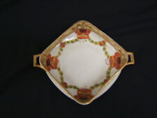"""Imperial Nippon Hand Painted Poppies Square Handled Bowl 5 1/2"""" Square VGC"""