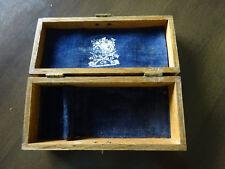 Wilkinson Sword Co. England Vintage Wooden Razor Box Velvet Lined