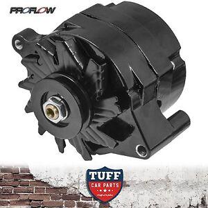 Ford Cleveland V8 302 351 Proflow Black Alternator 100 AMP Internal Regulator