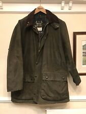Mens Green A400 Northumbria Barbour Waxed Jacket Large Original Sz Chest46 117cm