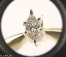 LIGHT YELLOW MARQUISE DIAMOND .28 CT 14K Y/W GOLD SOLITARE ENGAGEMENT RING