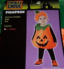 TOTALLY GHOUL TODDLERS PUMPKIN HALLOWEEN COSTUME SIZE 1-2 YEARS NEW!