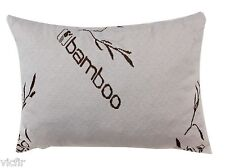 Bamboo Covered Queen Shredded Memory Foam Pillow,100% Washable,Made In USA