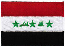 IRAQ FLAG embroidered iron-on PATCH IRAQI EMBLEM war military SADDAM HUSSEIN
