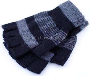 1 Pair 70% Wool Winter Fingerless Knit Gloves for Girl,Women & Men,Boy, Unisex