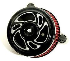 "Negro ""Espiral"" Limpiador de aire Kit para HARLEY SPORTSTER XL 2007 & up"