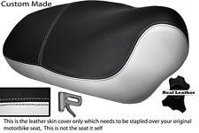 WHITE & BLACK CUSTOM FITS APRILIA MOJITO HABANA 50 125 DUAL LEATHER SEAT COVER