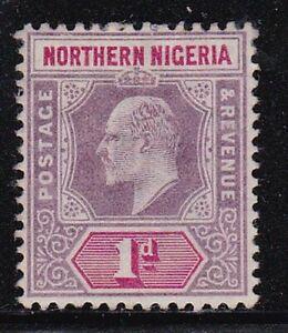 Album Treasures Northern Nigeria Scott # 11  1p  Edward VII  Mint NG