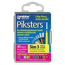 Cheapest Piksters Interdental Brushes 40 Pack - All Sizes