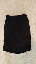 Magaschoni Collection Black Silk blend Knee Length Skirt Size 4, lined