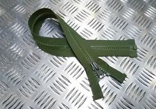 Británico Genuino Militar YKK 535cm Abierta Verde Cremallera/cremallera
