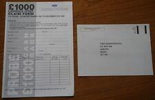 FORD CARS 1994 £1000 Cash Back Offer Voucher ( EXPIRED) and Original Envelope