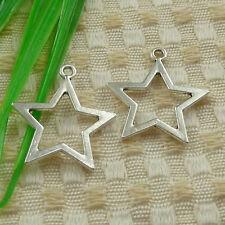 180pcs tibetan silver star charms 27x24mm #4607