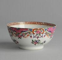 Antique 18C Chinese Porcelain Bowl FAmille Rose Qing Antique Porcelain