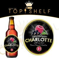 Personalised Kopparberg mixed fruit cider bottle label any name / age / occasion