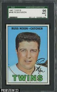 1967 Topps #446 Russ Nixon Minnesota Twins SGC 96 MINT 9