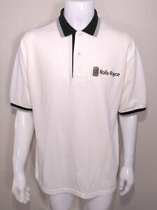 ROLLS ROYCE Polo Shirt LARGE Crew Work Wear PHANTOM Service Team VINTAGE Size L