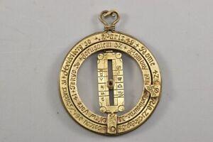 k48h17- Ringsonnenuhr/ Sundial aus Messing