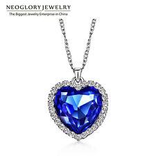 Necklaces & Pendants for Women Neoglory Crystals Titanic Heart Ocean Love