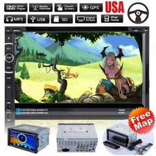 "7"" 2DIN Android HD Car Stereo DVD Player CD/MP3/MP4/AM/FM/TV GPS + 8GTF + Map US"