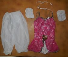 NWT Dance Glittered Raspberry Lace Overlay Peplum Bloomers Puff Sleeves Child