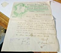 carta intestata COMPAGNIA TOSCANA DI VARIETA' CARLO CASTELLANI - 20/11/1902
