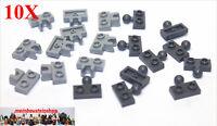 10 Paar Lego® 14417 / 14704 Platten 1X2 m. Kugelgelenk Kupplung Grau NEU