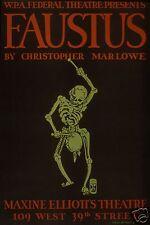 "Faustus Christopher Marlowe Maxine Elliot Theater New York 12x8"" Reprint Poster"