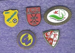 5 Pins von Sportvereinen aus den alten Bundesländern
