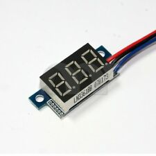 Mini DC 0-100V 3-Wire Voltmeter Blue Red White LED Display Digital Panel Meter