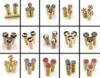 1X 8mm Dia. Mosaic Pin Rivet Brass Tube Tool  Knife Making Decoration Material