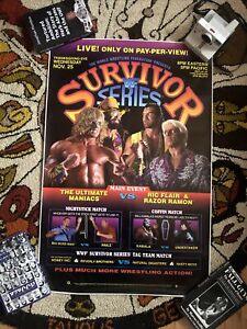 LAST ONE! WWF Survivor Series 1992 original vintage poster Ric Flair Macho Man