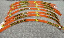 Skin Industries Rim Decals Stickers For KTM Color Orange
