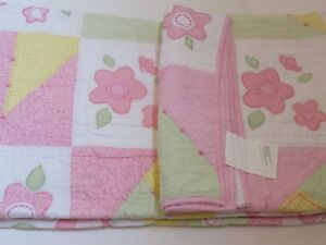 Kid's Expression Flower Crazy full Patchwork Applique Quilt Pottery barn kids
