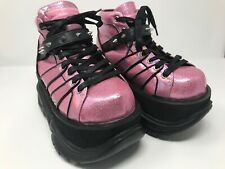 Demonia Barbie Cyber Rave Skate Shiny Boots Size 6
