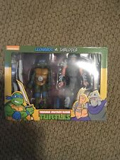 NECA TMNT Target Leonardo vs Shredder Teenage Mutant Ninja Turtles SEALED NEW