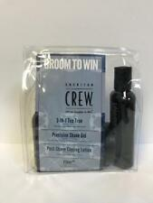 American Crew Groom To Win Kit - 3-in-1, Shave Gel, Cooling Lotion, & Fiber