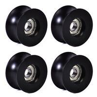 4Pcs 0840UU 8mm Groove Guide Pulley Sealed Rail Ball Bearing 8x40x20.7mm YR