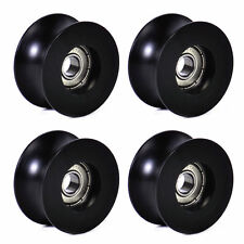 4Pcs 0840UU 8mm Groove Guide Pulley Sealed Rail Ball Bearing 8x40x20.7mm Hot.
