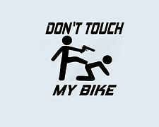 Don't Touch my BIKE Motorrad Moped Mofa Rad Aufkleber Sticker Folie Logo