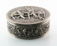 Gorgeous Vintage Fine Silver Dutch Repousse Trinket Box (before 1953) 414.1 g