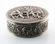 Gorgeous Vintage Fine Silver Dutch Repousse Trinket Box (before 1953) 414.1 g