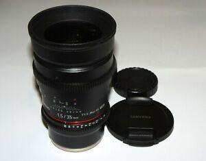 EXC Samyang Rokinon 35 mm T1.5 ED AS UMC CINE Lens Nikon F Mount Full Frame
