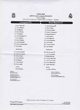 Liverpool v Real Madrid - UEFA Youth League - 22/10/14 @ St Helens Rugby (teams)