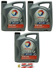 3x5 LITER Total Quartz INEO ECS - 5W30 Motoröl, ACEA C2, PSA B71 2290, Fiat 15l
